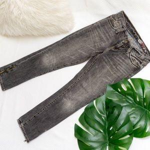 GAP Gray Wash Straight Leg Jeans